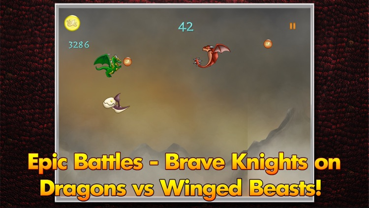 Nimble Fantasy Knight on Dragon vs Evil Monster - Kingdom of