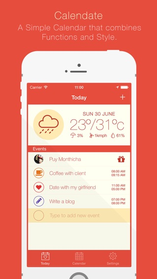 Calendate - Most Stylish Calendar Screenshot