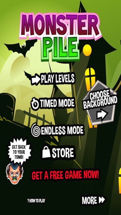 Monster Pile - Matching 3 Dead, Monstrous Zombie Draculas screenshot one