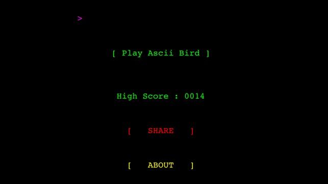 Ascii Bird Game Im App Store