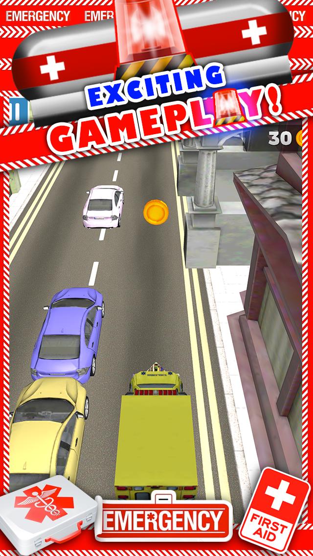 新ボーイズ無料でトップ楽しいドライビングレーシングゲームで、3D救急車レースカーのゲームのおすすめ画像2