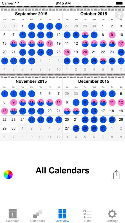 colorCal+ Calendar screenshot-4