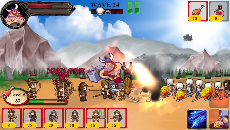 Barbarian Warrior vs Zombie Defense ACT TD - Hammer of Thor screenshot-3