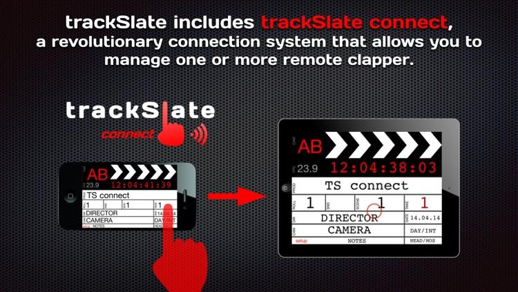 trackSlate clapperboard