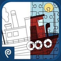 Color It Puzzle It: Boats Lite