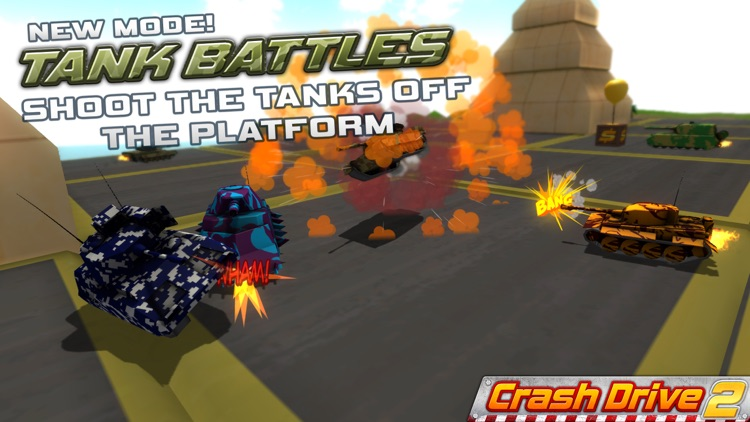 Crash Drive 2: The multiplayer stunt game, with monster trucks & classic muscle cars screenshot-3