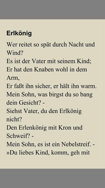 Goethe gedicht vater sohn
