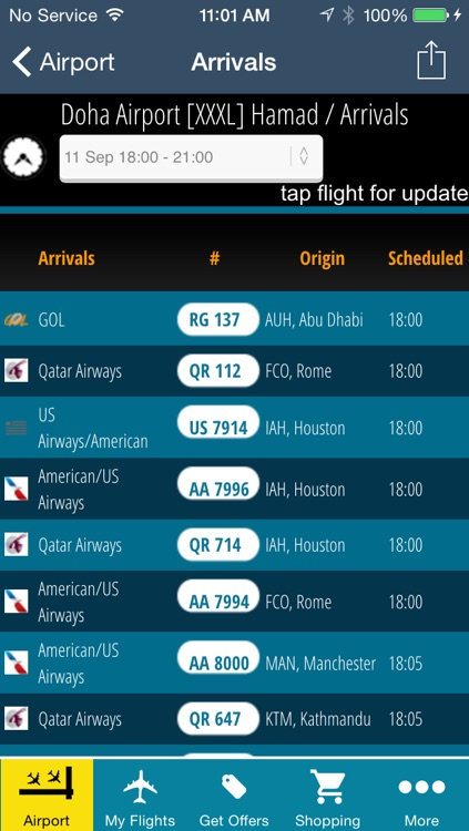 Doha Airport Pro (DOH) Flight Tracker