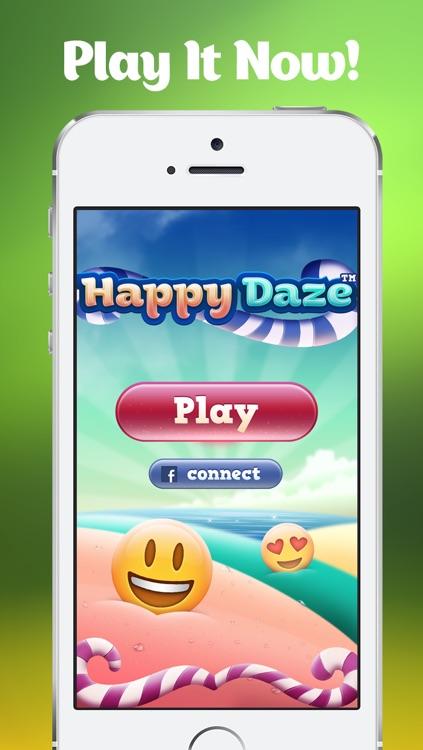 Happy Daze - Match 3 Puzzle Game with Emoji Keyboard Characters screenshot-4