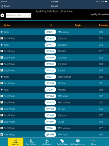 Riyadh King Kahlid Airport Pro (RUH) Flight Tracker Premium Saudi Arabian air radar airlines-ipad-2