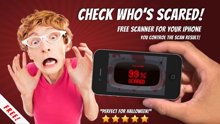 Scare Meter for Halloween pranks - test who's scared using this free fingerprint scanner