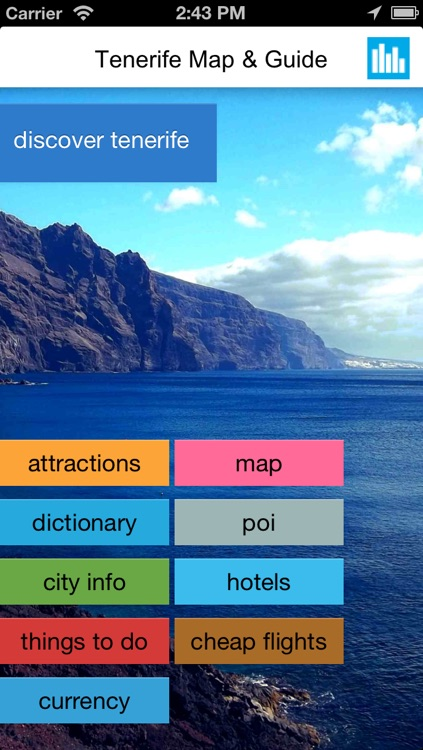 Tenerife (Canary Islands) offline map, guide, hotels.