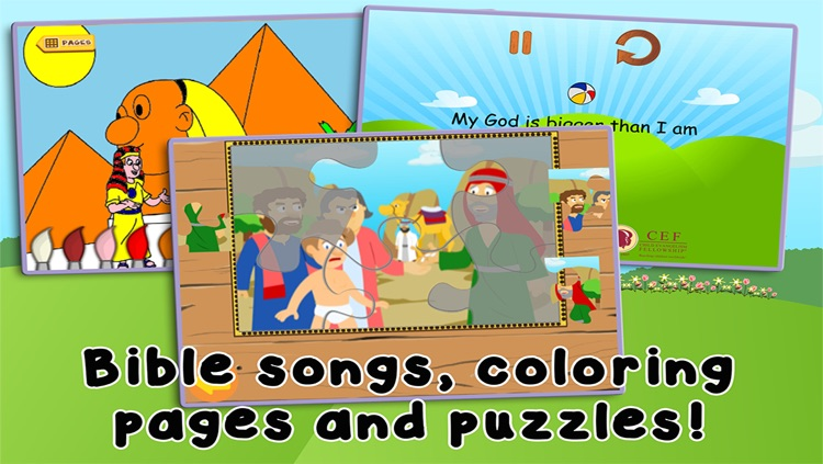 Kids Bible: Joseph and the Pharoah's Dreams - Bible Heroes Adventure Story for Children with Coloring, Singing, Puzzles, and Games screenshot-3