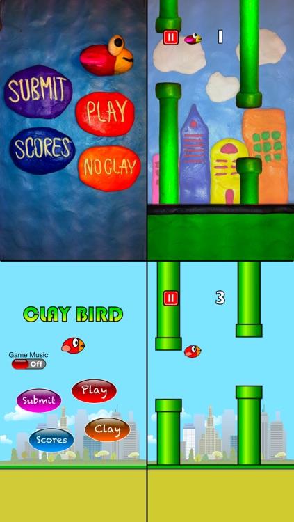 Flappy Clay Bird screenshot-4