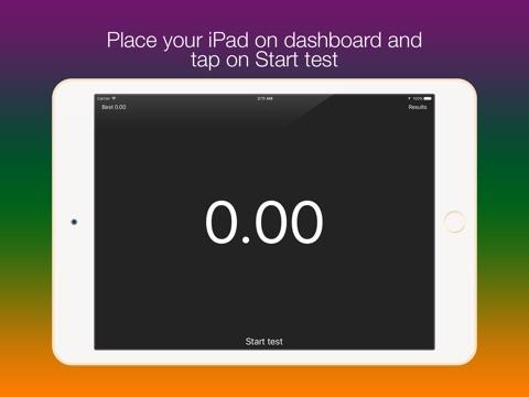 Screenshot #1 for SpeedUp - Acceleration test 0-100 kmh 0-60 mph