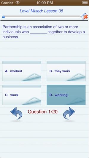 English Test Level (A,B,C) trên App Store