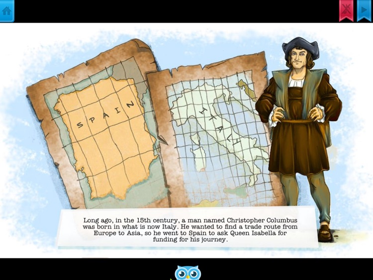 Christopher Columbus - Have fun with Pickatale while learning how to read.