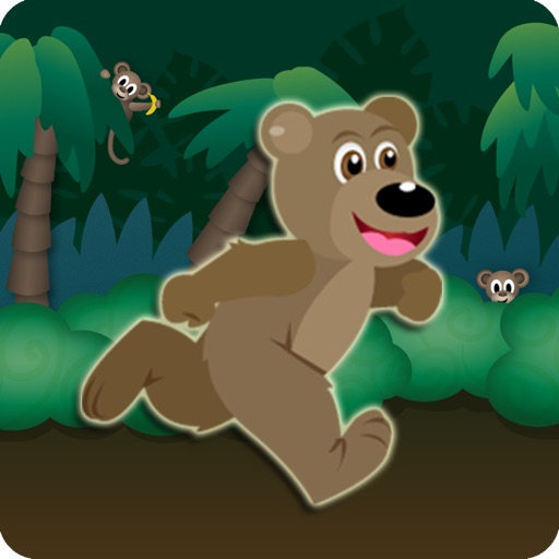 Jungle Bear Jump Coin Hunting Adventure - Top Land Running Trap Jumper Free