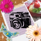 Free photo app, photodeco-collage,filter(Toy, Lomo, etc), stamps, frames~Let's decorate photos~ icon