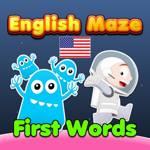 English Maze: First Words (US English)