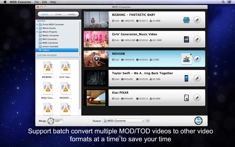 MOD-Converter Screenshot
