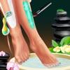 Kosmetikerin Bein Spa und Kleid - Ein Spiel für Mädchen und für alle Kosmetikerinnen! Achten Sie auf Ihre Beine!