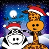Puzzle: Christmas animals for toddlers