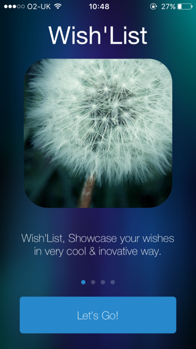 Wish'List - Keep Your Wishes In One Place. Screenshot on iOS