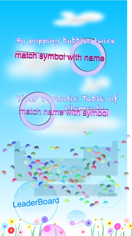 Periodic Table of Elements Bubble Pop Free Test screenshot-3