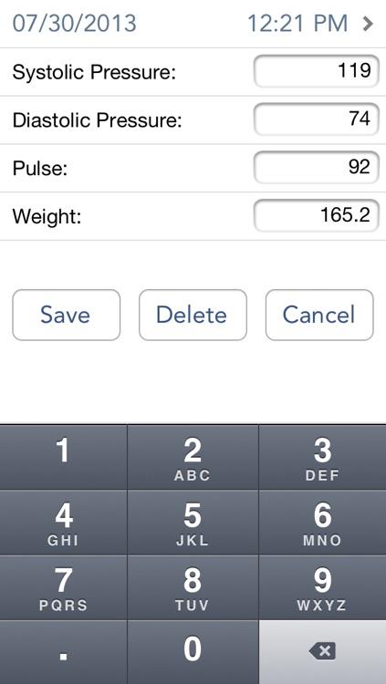 Chart My BP - Blood Pressure Tracker