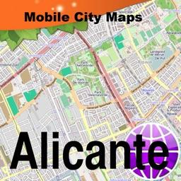Alicante Street Map.