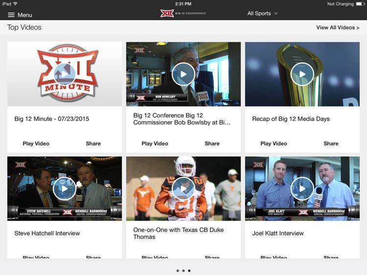 Big 12 Sports for iPad 2015 screenshot-4