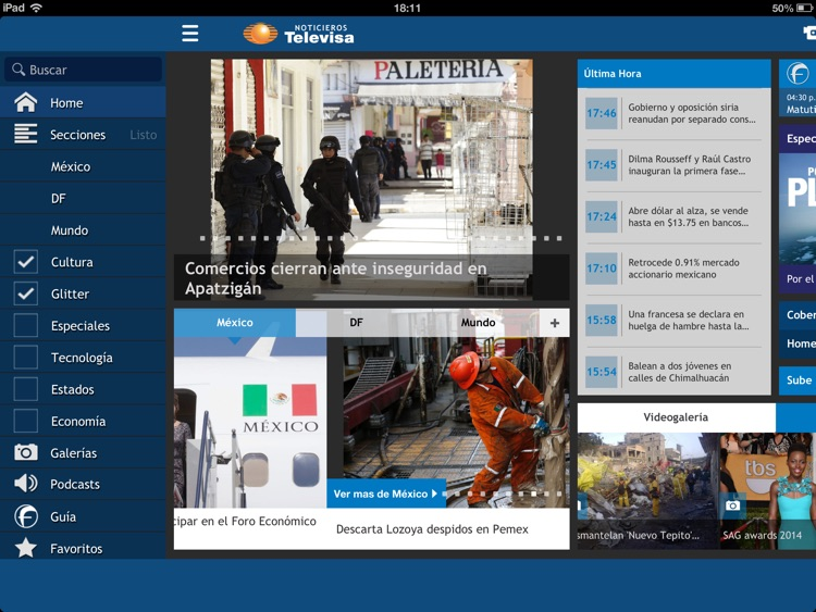 Televisa Noticias for iPad screenshot-4