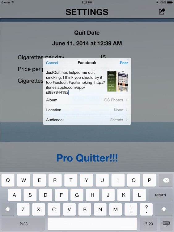 JustQuit HD - Quit Smoking App For A Healthy Smokefree Life screenshot-3