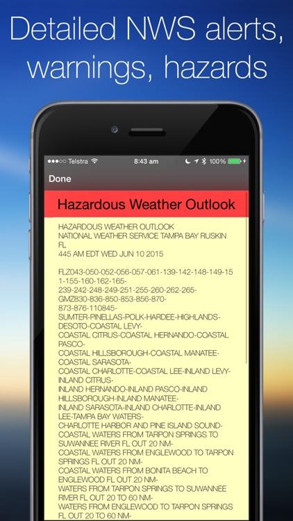 Weather Radar Map & NOAA Forecast Pro screenshot-4