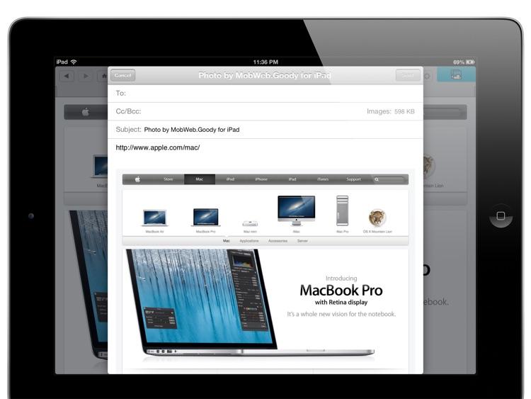 Full Screen Capture - MobWeb.Goody for iPad screenshot-4
