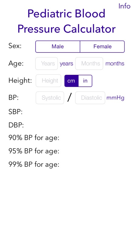 Pediatric BP Calculator