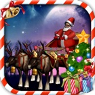 Santa Claus Sleigh Parking 3D icon