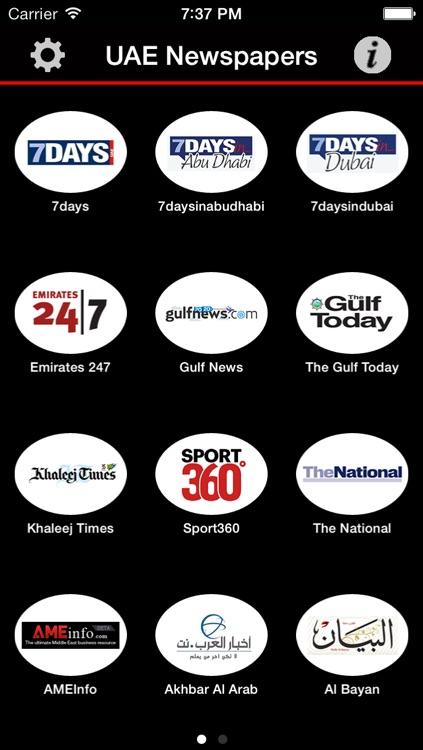 UAE Newspapers (UAE News Dubai and Abu Dhabi)