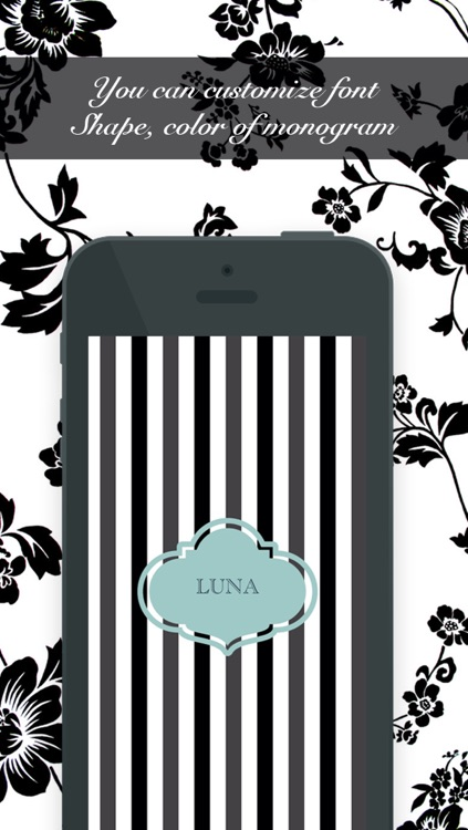 Love Monogram - Create cute customized wallpapers and lock screens