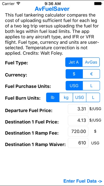 AvFuelSaver by Specific Range Solutions Ltd