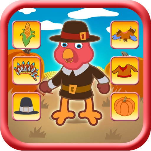 Thanksgiving Turkey Dressing Up Game For Kids pro - Kids Safe App No Adverts