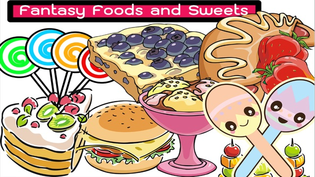 Funny Sweets And Dessert Colorful Foods Coloring Im App Store