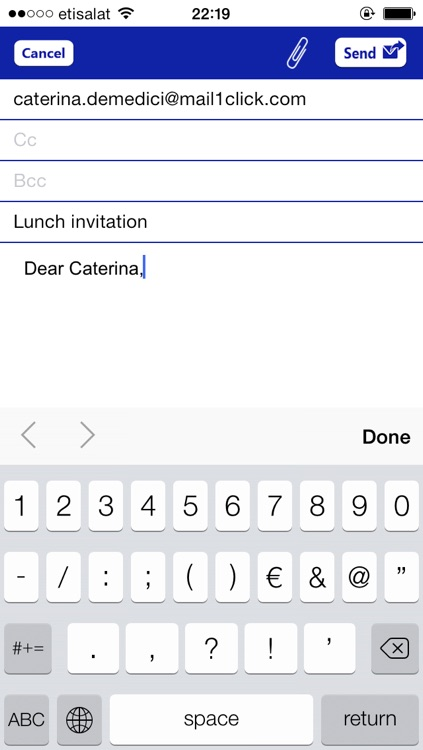 Mail1Click - Secure Mail screenshot-3