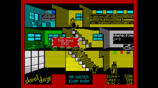 Screenshot from Skool Daze (ZX Spectrum)
