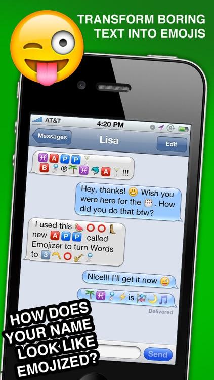 Emojizer Emoji Words and Names that Transform to Emoticons