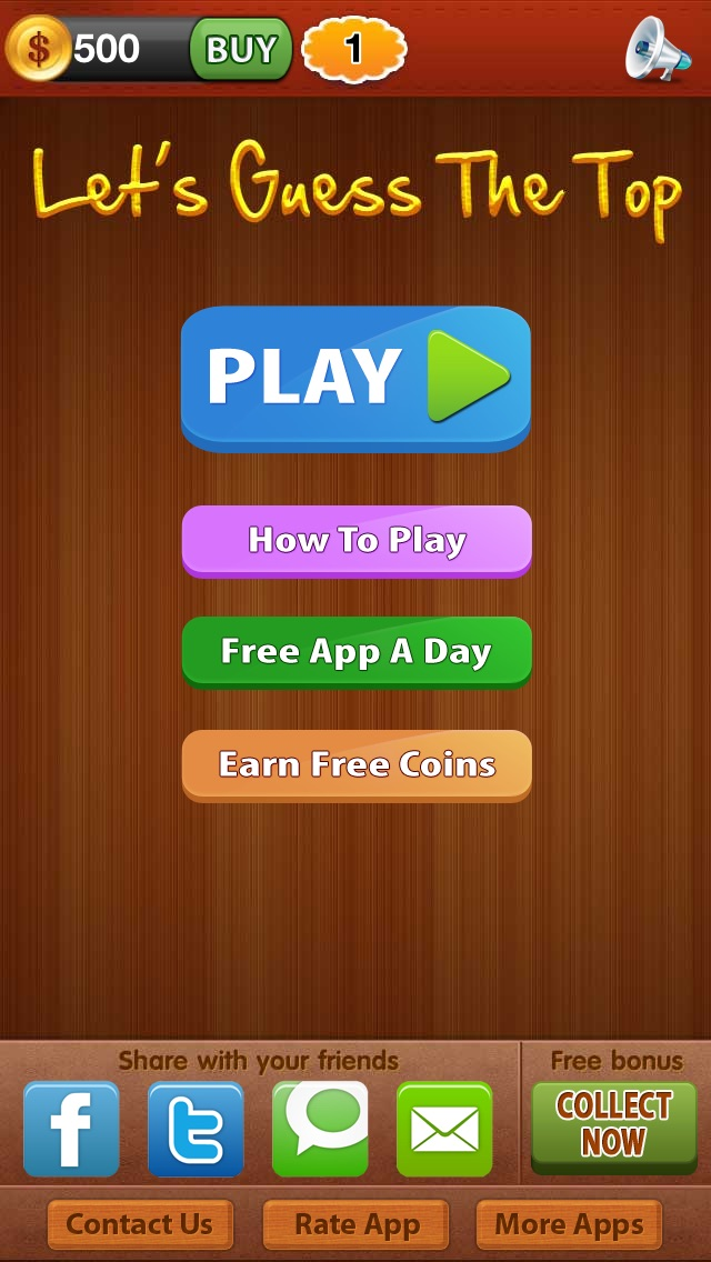 Let´s Guess The Top ™ reveal what is the best of world from addictive word puzzle quiz game Screenshot on iOS