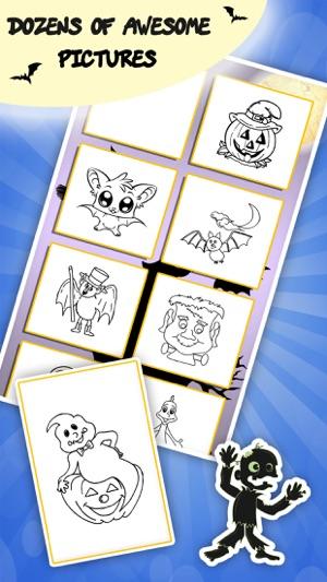 Libro de colorear de Halloween para los niños: Los niños de dibujo y ...