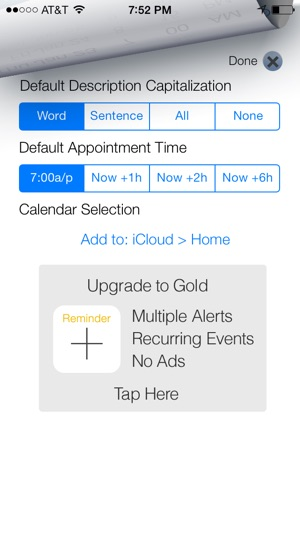 Add Reminder to Calendar on the App Store