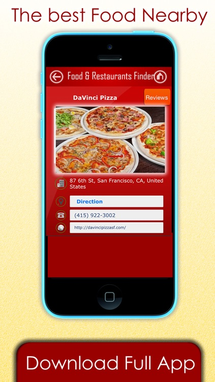 Food & Restaurants Finder - Find where to eat & any restaurant , Pizza or vegetarian food near my current location screenshot-3